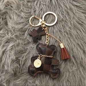 🧸Cute Teddy Bear Damier Ebene Key Charm